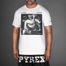 pyrex clothing white pyrex vision religion t shirt wehustle menswear