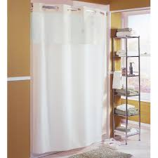 hookless beige mystery shower curtain with matching flat flex on