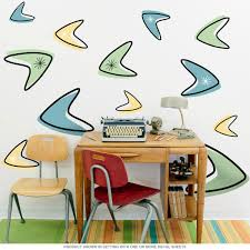 atomic boomerangs 50s style wall decals sheet large removable bizrate store ratings summary