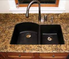 Black Composite Granite Kitchen Sink Video And Photos - Black granite kitchen sinks