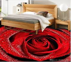 romantic aesthetic with dewdrops red rose bathroom with 3d