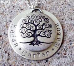 grandmother s necklace grandmother s handsted necklaces grandchildren s names metal