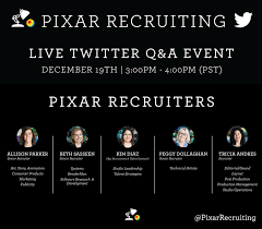 pixar u0027s recruiting team shares invaluable information during