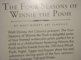 Winnie The Pooh Writing Paper Amazon Com Four Seasons Of Winnie The Pooh Print 1 Of 4 Ice