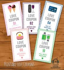 Printable Halloween Candy Coupons by Printable Romantic Love Coupons Instant Download Valentines Day