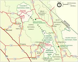 california map national parks file nps sequoia regional map gif wikimedia commons