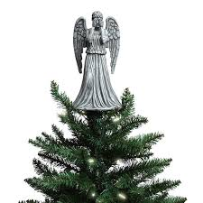 tree topper doctor who weeping angel christmas topper thinkgeek