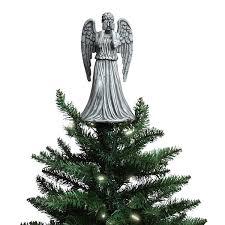 christmas tree angel doctor who weeping angel christmas topper thinkgeek