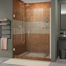 dreamline unidoor 58 59 in width frameless hinged shower door 3
