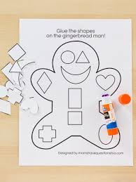 the gingerbread man coloring pages gingerbread cut and paste activity moms have questions too