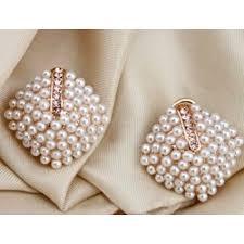 big stud earrings faux pearl stud earrings