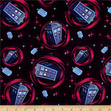 bbc doctor who flannel telephone police box blue discount
