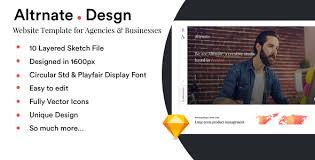 altrnate desgn website design template by imvj themeforest