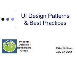 gui design patterns android ui design patterns best practices