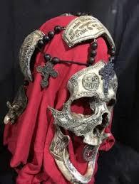 Realistic Scary Halloween Costumes Bone Warrior Aged Bone Skull Mask Demon Skull Horror Halloween