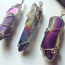 titanium jewelry necklace images Jewels crystal quartz crystal jewelry rainbow titanium jpg