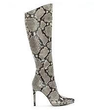 amazon com michael kors knee michael kors adoma beige reptile platform knee boots 39 beige