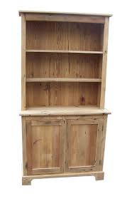 barnwood farmhouse stepback hutch with open top