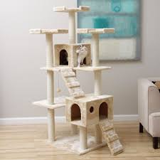 Cat Condos Cheap Jungle Gym Cat Condo Scratcher With Muliple Levels Featuring Faux