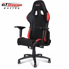 Red Leather Office Chair Gt Omega Pro Racing Gaming Office Chair Black And Red Leather