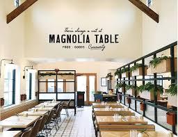 magnolia fixer upper fixer upper gaines teams opens magnolia table in waco texas