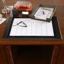 White Leather Desk Blotter Desk Blotter Sets Leather Accessories For Home Office All