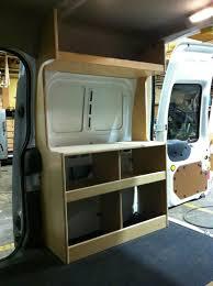 ford transit connect camper pkg diy campervan van cabinets ntl