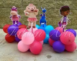 doc mcstuffins birthday lambie stuffy hallie wood centerpieces