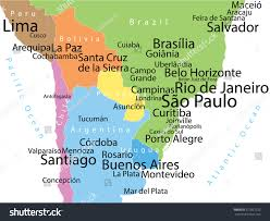 map of cities in south america vector map south america largest cities stock vector 317821232