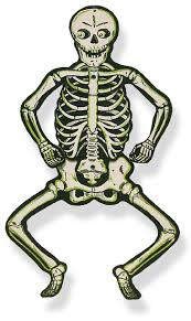vintage antique uncommon halloween skeleton decoration