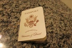 Diy Scroll Invitations Vanessa U0027s Diy Passport Destination Wedding Invitations Pic Heavy