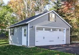 22x22 2 Car 2 Door Detached Garage Plans by Amish Garages New Jersey Maryland Delaware Pennsylvania