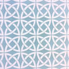 Outdoor Fabric Lattice Link Blue U0026 White Lattice Link Celtic Knot Geo Moroccan