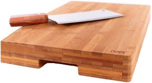 amazon com original bamboo butcher chopping block by neet 100 amazon com original bamboo butcher chopping block by neet 100 organic anti bacterial bamboo cutting board ultra thick heavy solid 16 5