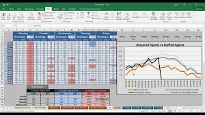 Scheduling Spreadsheet Call Center Agent Schedule Generator And Intraday Management