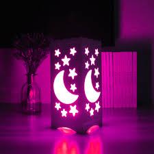 24 key remote control rgb led table light white art light moon and