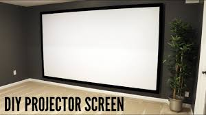 retractable home theater screen how to build and hang a projector screen this great video sent to
