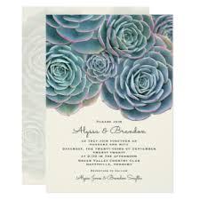 succulent wedding invitations succulent themed wedding invitations announcements zazzle