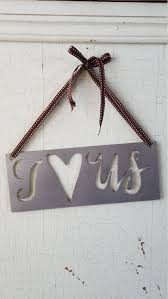 i love us sign valentines day gift rustic love sign rustic