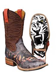 tin haul boots s size 11 tiger tin haul boot with white tiger sole cowboy boots