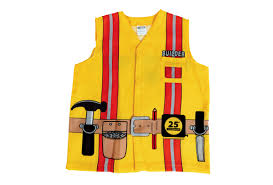 Construction Worker Costume Construction Worker Washable Career Costume