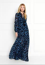 chiffon maxi dress zoe feather printed chiffon maxi dress