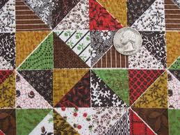 cheater patchwork quilt print cotton quilting fabric vintage 36 w
