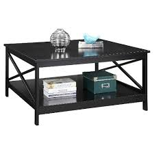36 square coffee table oxford 36 square coffee table black convenience concepts target