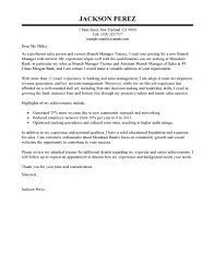 Executive Letter Of Resignation Best Branch Manager Trainee Cover Letter Examples Livecareer