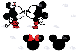 mickey minnie mouse cute kiss married mickey