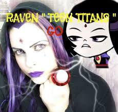 halloween cartoon makeup raven