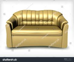 Yellow Leather Sofa by Golden Leather Sofa Vector Stock Vector 111388712 Shutterstock