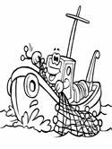 Boats Ships Coloring Pages