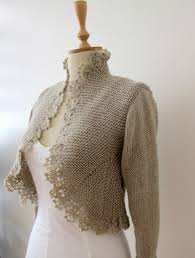 such beautiful shaping gorgeous crocheted trim sweater